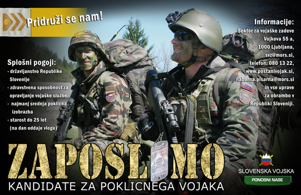 Slovenska Vojska Zaposlimo